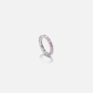 Amy Shehab Thin Round Crystal Ring - Pink