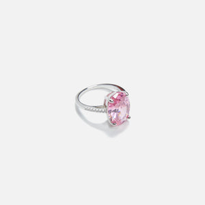 Amy Shehab Crystal Oval Cocktail Ring - Pink