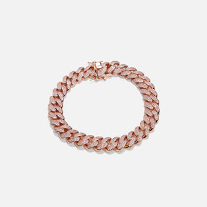 Amy Shehab Large Crystal Cuban Link Choker - Rose Gold