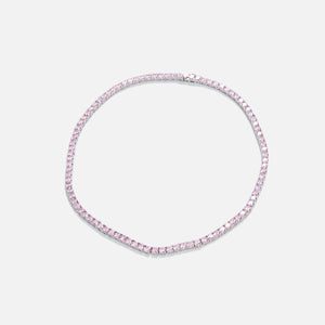 Amy Shehab Crystal Tennis Necklace - Pink
