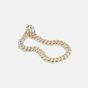 Amy Shehab Small Crystal Cuban Necklace - Gold