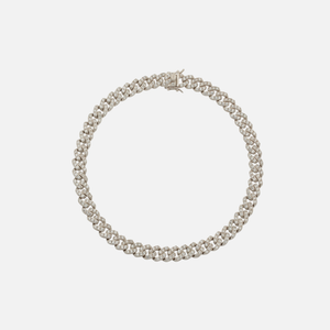 Amy Shehab Small Crystal Cuban Necklace - Silver