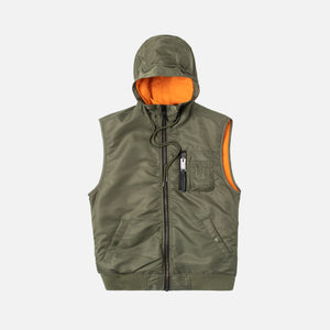 1017 Alyx 9SM Hooded MA-1 Vest - Sage Green
