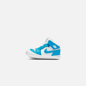 Nike Toddler Air Jordan 1 Mid - White / Dark Powder Blue