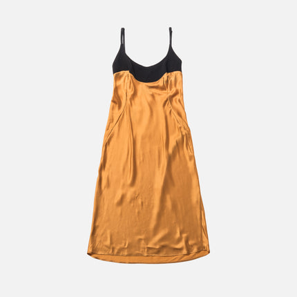 Rue-L Golden Girls Silk Slip Dress - Golden Yellow