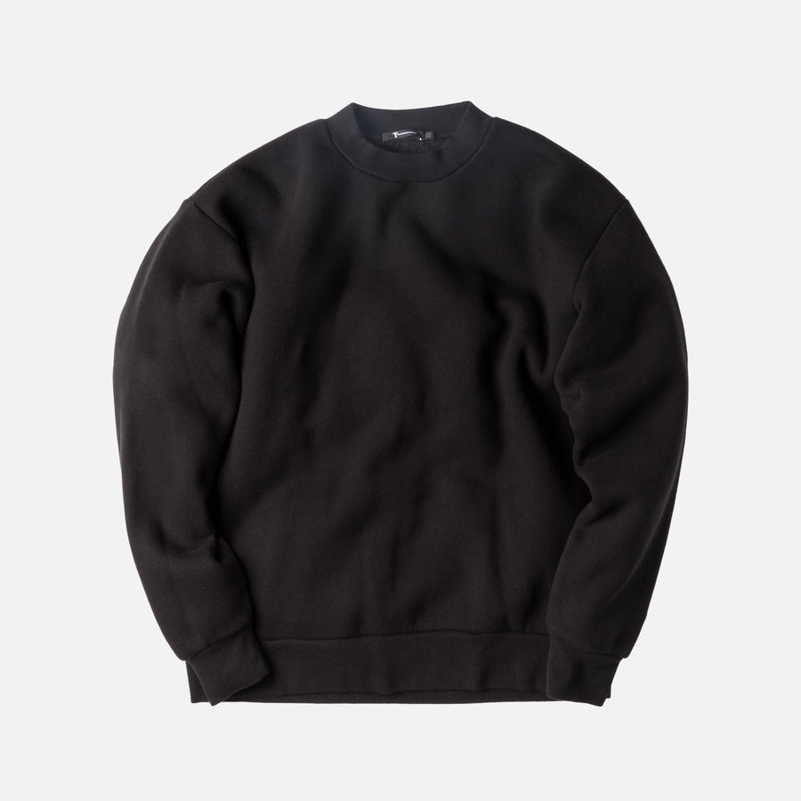 T by Alexander Oversized Crewneck - Black