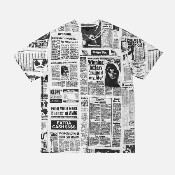 Alexander Wang NY Post Newspaper Tee - White