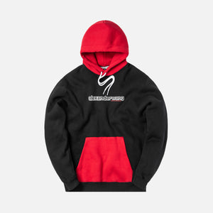 Alexander Wang Compact Fleece Two Tone Logo Hoodie - Black