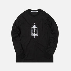 Alexander Wang Jersey L/S Tee with Graphic - Black