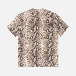 Alexander Wang All-over Snake Print High Twist Tee - Ecru