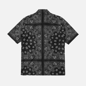 Alexander Wang Silk Bandana Jacquard Button-Up - Black