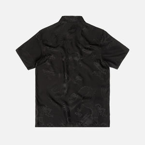 Alexander Wang Black Dragon Silk Jaquard Shirting - Black