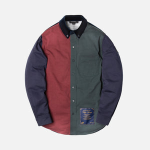 Alexander Wang Paneled Button-Up - Navy / Multi