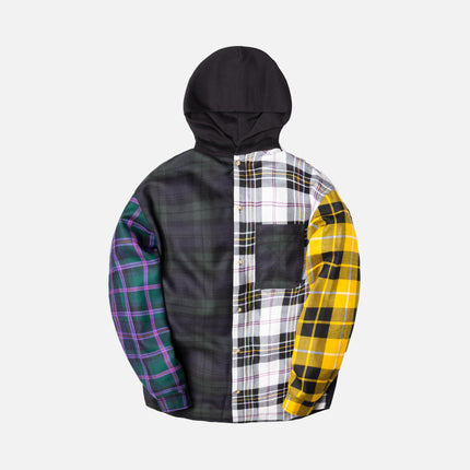 Alexander Wang Multi Plaid Overshirt w Hood - Black / Multi