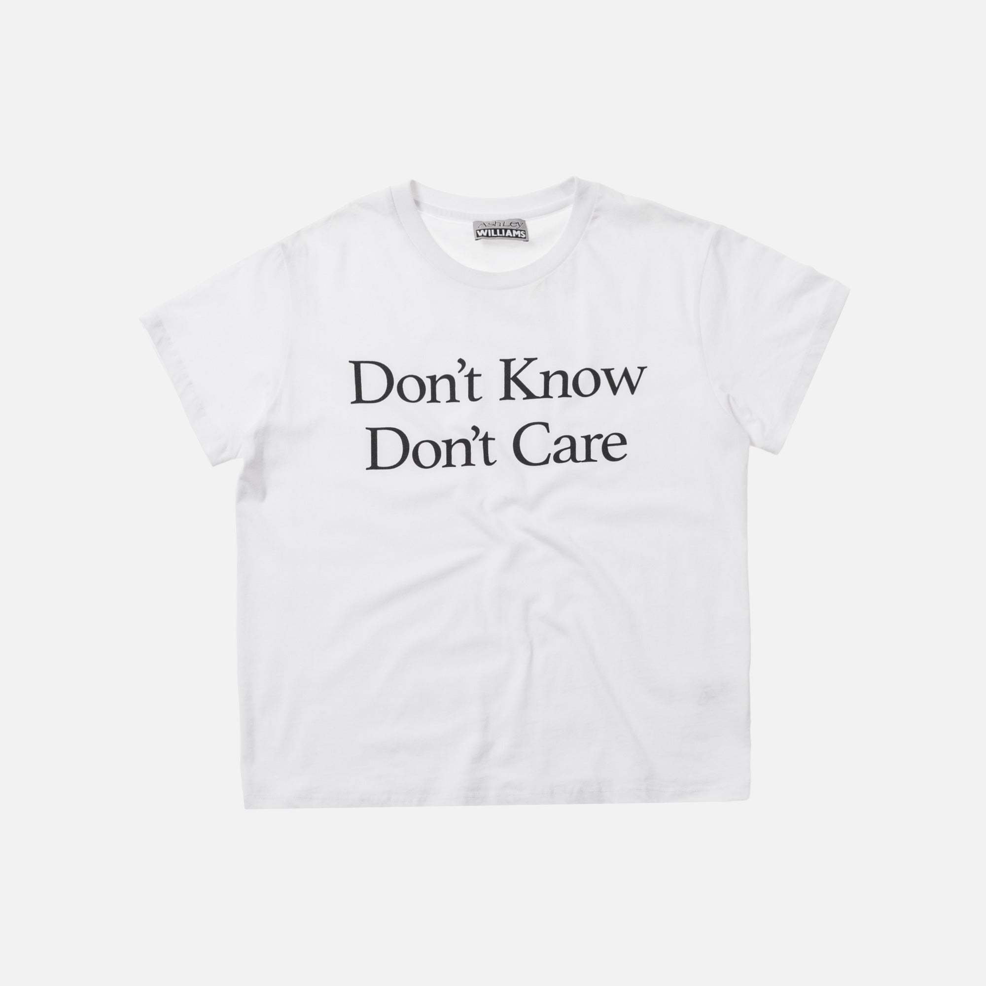 Ashley Williams Don't Know Simple Tee - White