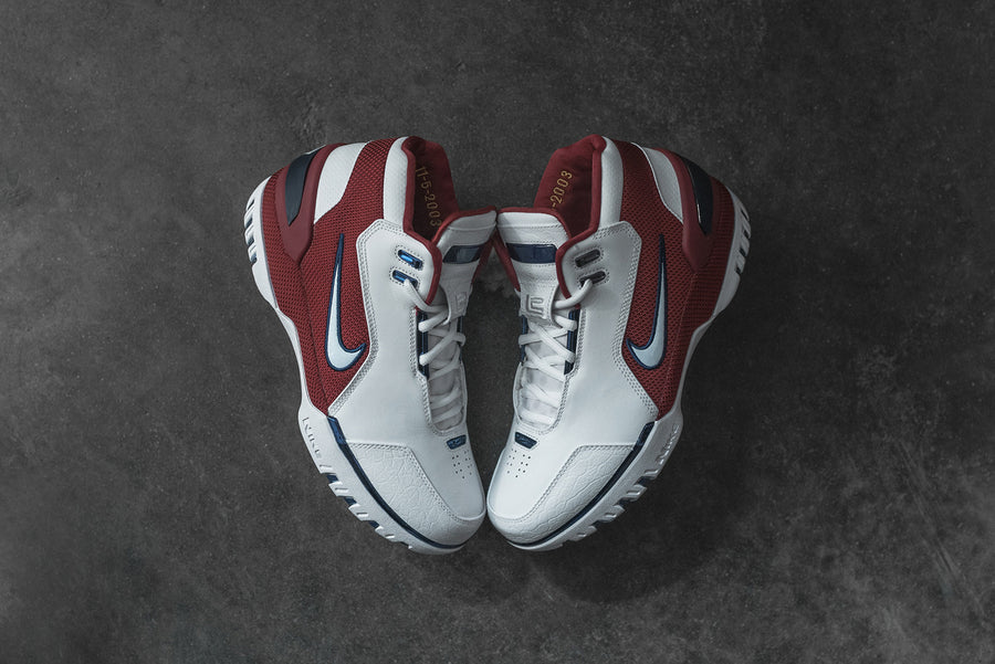 Nike LeBron Air Zoom Generation QS - White / Varsity Crimson
