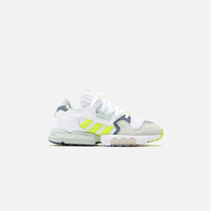 adidas Consortium x Footpatrol ZX Torsion - White / Solar Yellow / Ash Grey
