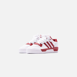 adidas Rivalry Low - White / Active Maroon Image 3