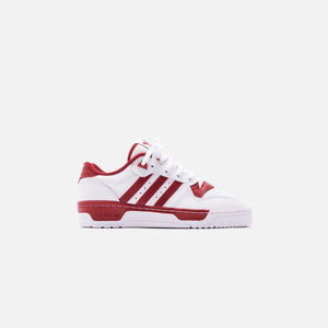 adidas Rivalry Low - White / Active Maroon