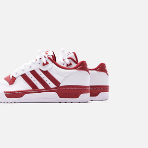 adidas Rivalry Low - White / Active Maroon Image 5
