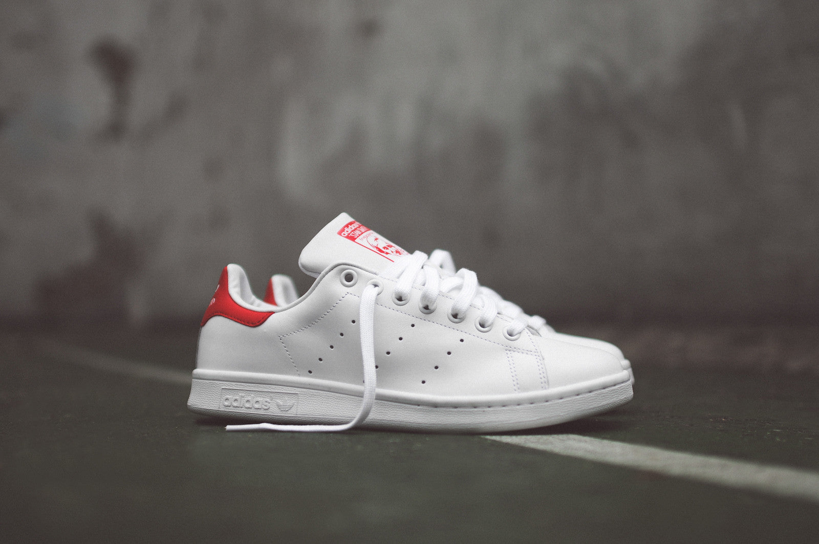 Adidas Stan Smith White Black Red shoes