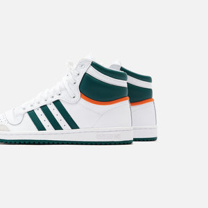 adidas Originals Top Ten High - White / Collegiate Green / Orange Image 5