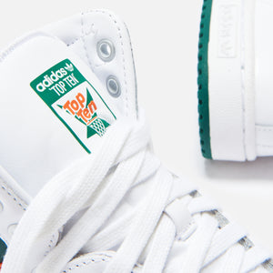 adidas Originals Top Ten High - White / Collegiate Green / Orange Image 6