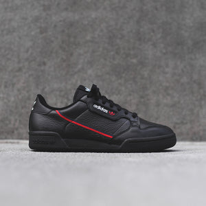 adidas Originals Continental 80 - Black / Red Image 1