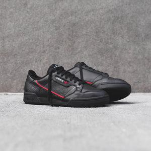 adidas Originals Continental 80 - Black / Red Image 2
