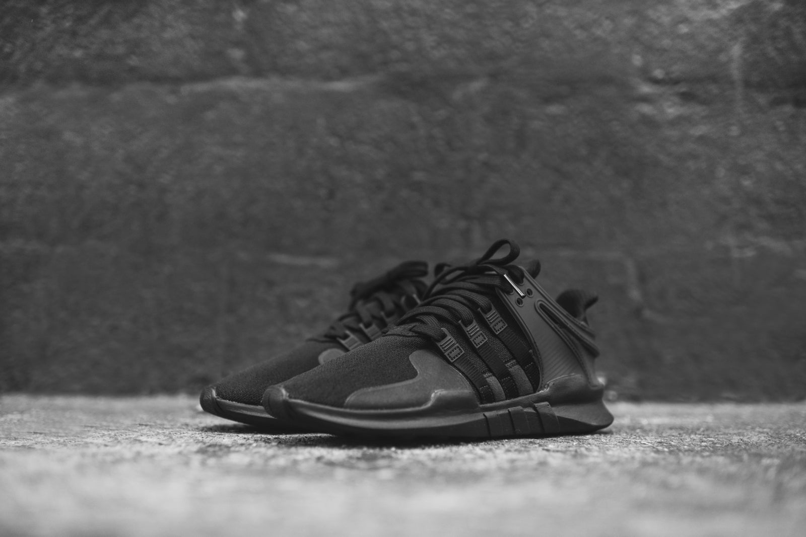 e34863ba5d07 ... Sports shoes adidas Originals EQT Support ADV - Triple Black  sneaker adidas  EQT Basketball ...