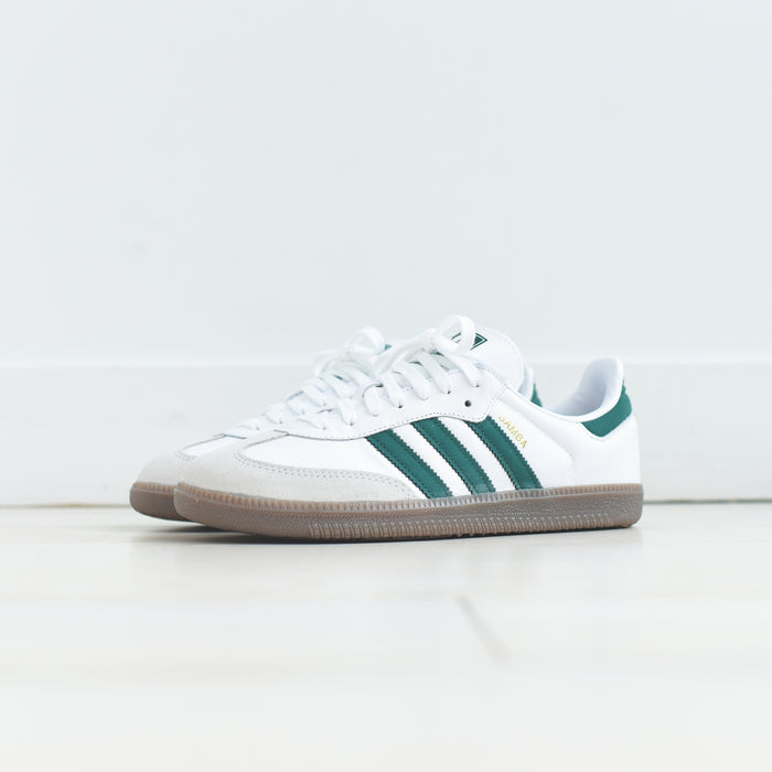 adidas Originals Samba - White / Collegiate Green