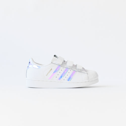 adidas Originals Crib Superstar CMF - White / Metallic Silver