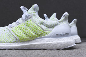 white and neon ultra boost off 62