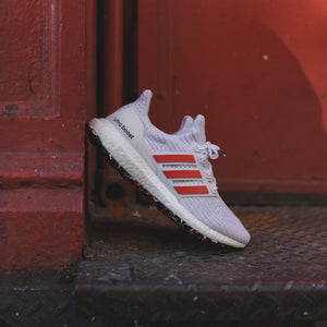 meet ca6ac bd397 adidas Originals UltraBoost - Chalk White   Active Red   White