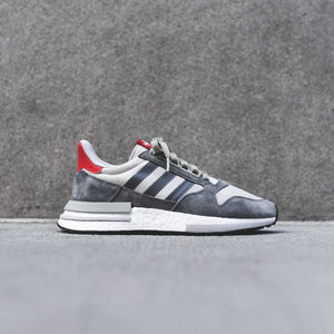 factory authentic 4095b ed89f adidas ZX 500 RM - Grey  White  Scarlet