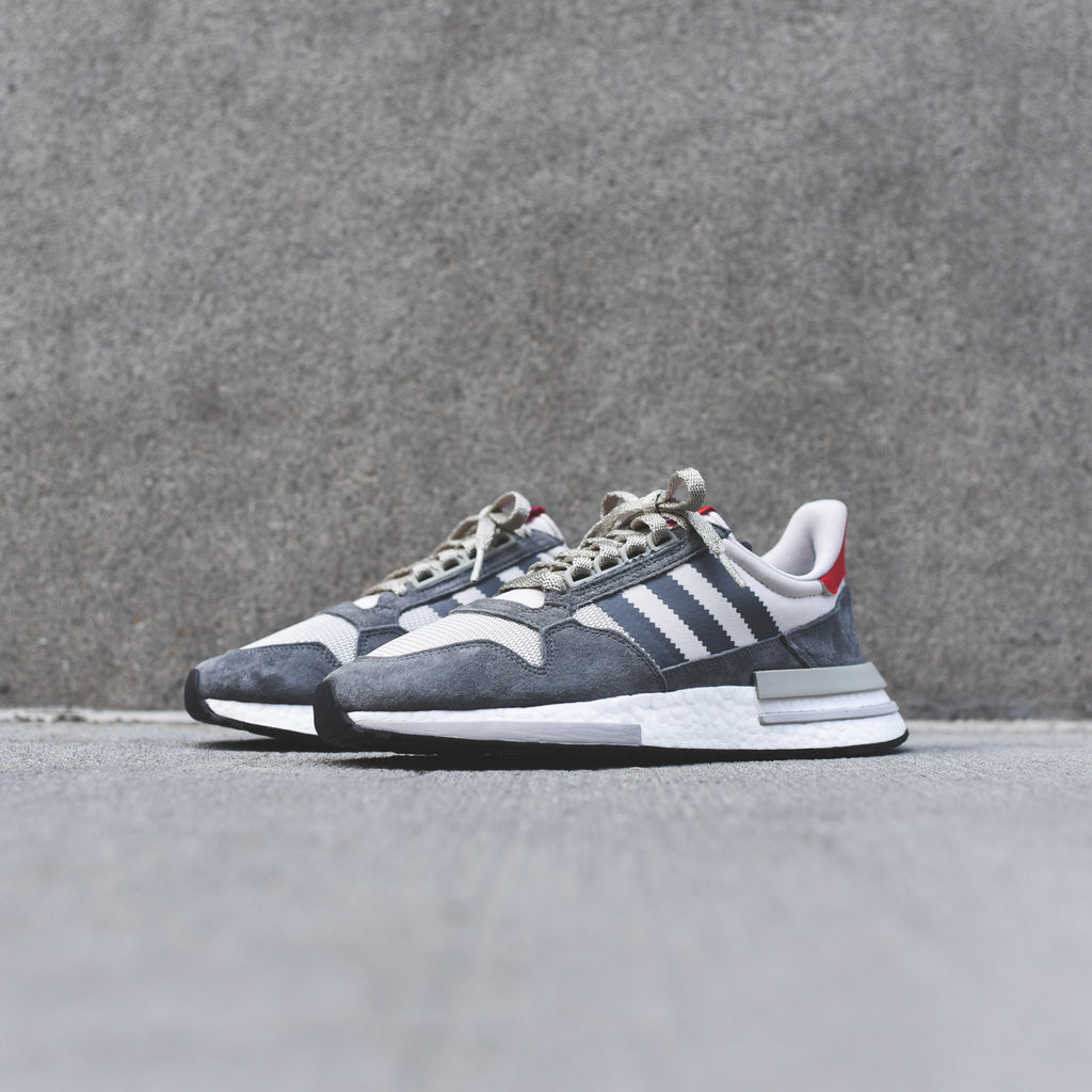 competitive price c6648 bb126 adidas ZX 500 RM - Grey   White   Scarlet – Kith