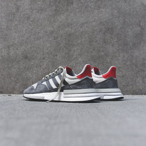 best sneakers 7c109 8f9fc adidas ZX 500 RM - Grey   White   Scarlet