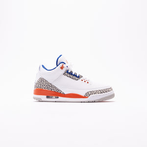 Nike Air Jordan 3 Retro - White / Orange / Grey / Royal Image 1