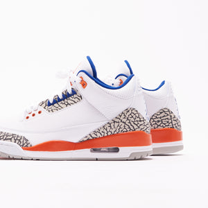 Nike Air Jordan 3 Retro - White / Orange / Grey / Royal Image 5