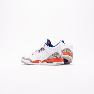 Nike Air Jordan 3 Retro - White / Orange / Grey / Royal Image 4