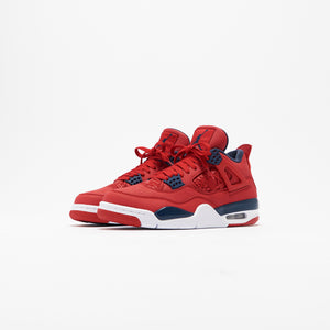 Nike Air Jordan 4 Retro SE - University Red / Obsidian / White / Metallic Gold Image 3