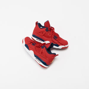 Nike Air Jordan 4 Retro SE - University Red / Obsidian / White / Metallic Gold Image 2