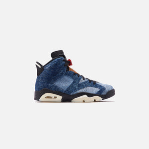 Nike Air Jordan 6 Retro - Washed Denim / Black / Sail / Varsity Red
