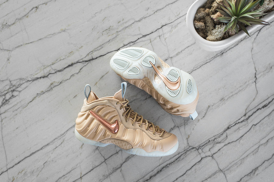 Nike Air Foamposite Pro PRM AS QS - Vachetta Tan / Rose Gold