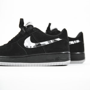 low priced d1f60 2d3f8 Nike GS Air Force 1 Low - Black   Wolf Grey   Dark Grey   White