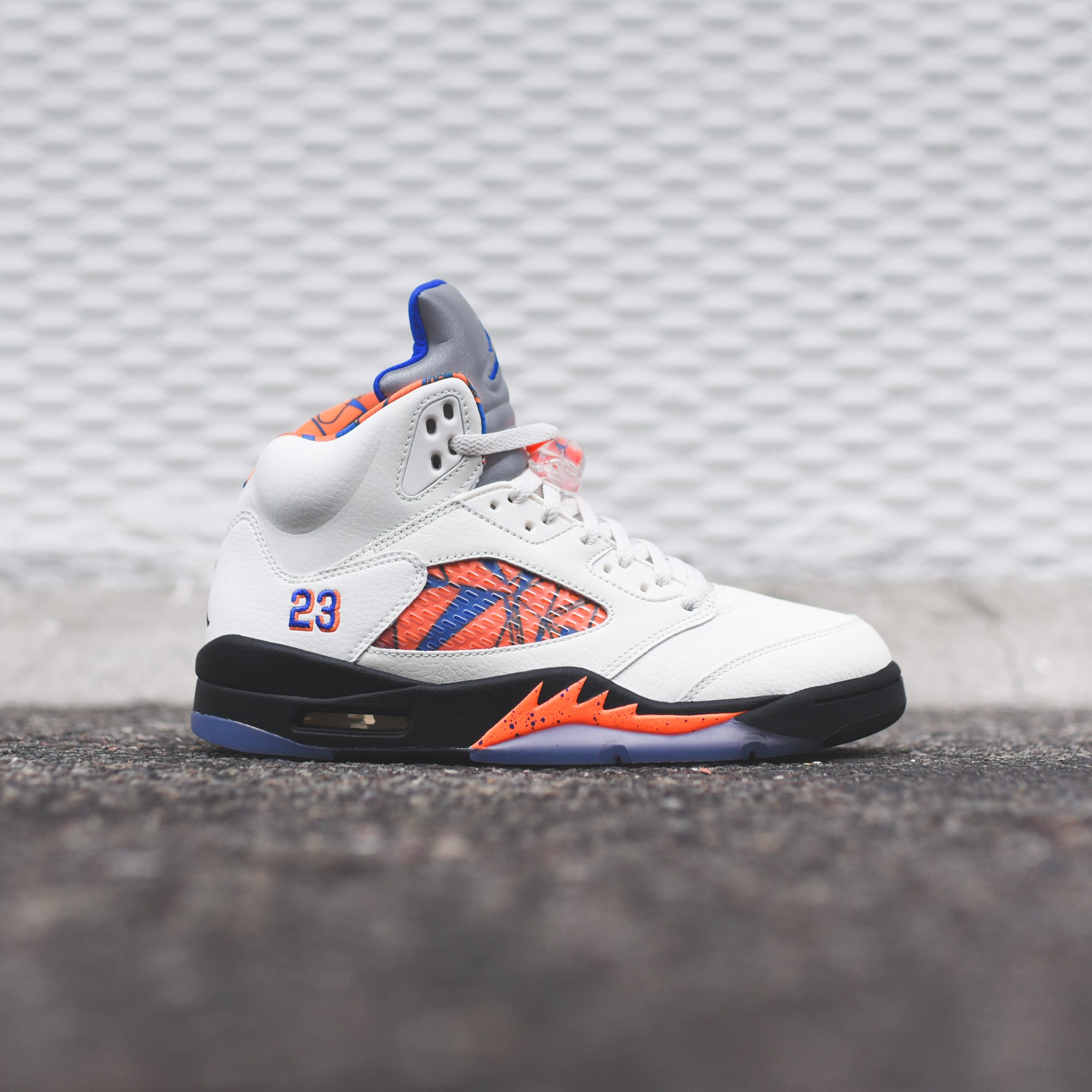 Nike Air Jordan 5 - Sail  Racer Blue
