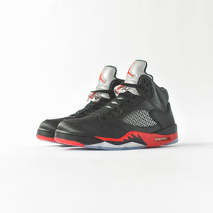 Nike Air Jordan 5 Satin - Black / Red