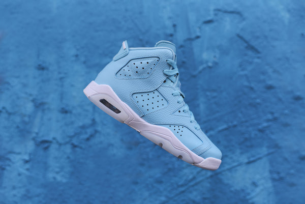 Nike GS Air Jordan Retro 6 - Still Blue / White