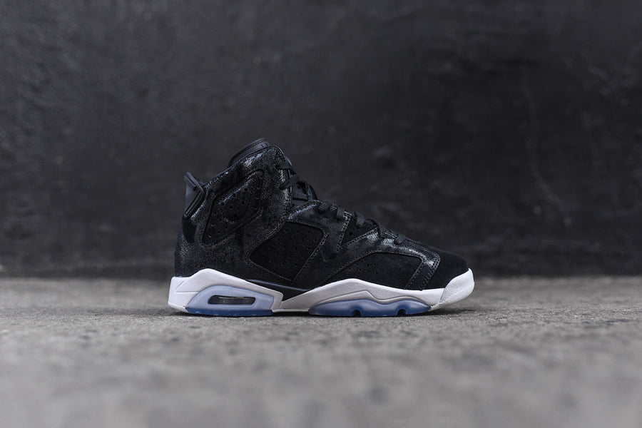 Nike GS Air Jordan 6 Retro PRM Heiress - Black / White / Gym