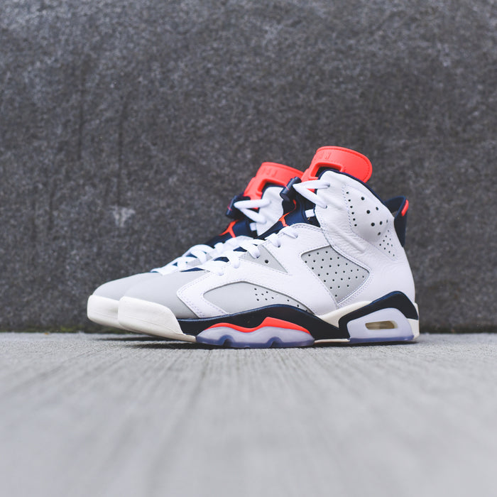 Nike TD Air Jordan 6 Retro - White / Infrared / Neutral Grey
